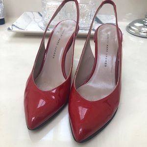 Marc by Marc Jacobs red sling back heels 37.5